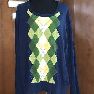 Merona plus size argyle sweater